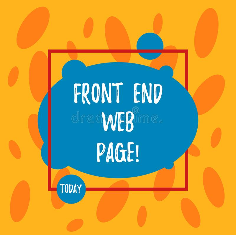 Textzeichen, das Front End Web Page zeigt Begriffsfoto, das Daten in grafische Schnittstelle für die Benutzer asymetrisch umwande vektor abbildung