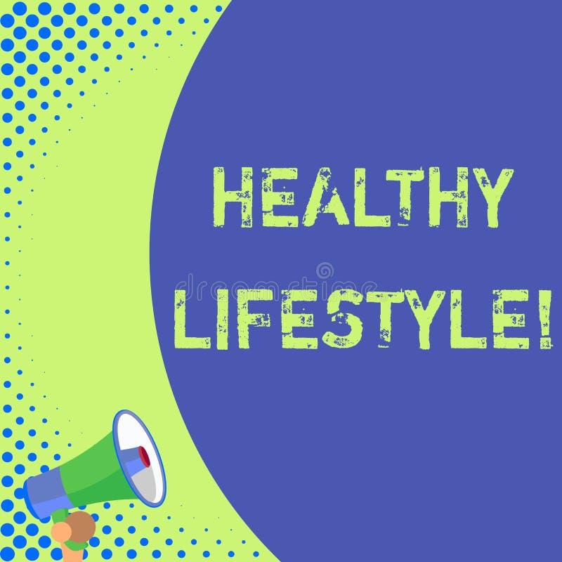 Textzeichen, das gesunden Lebensstil zeigt Begriffsfotoweise des Lebens das senkt das Risiko des Seins ernsthaft kranke Hälfte lizenzfreie abbildung