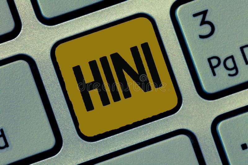 Textzeichen, das H1N1 zeigt Erkrankung der Atemwege Begriffsfoto Schweinegrippe das meiste Common verursacht durch Grippeviren stockfotografie