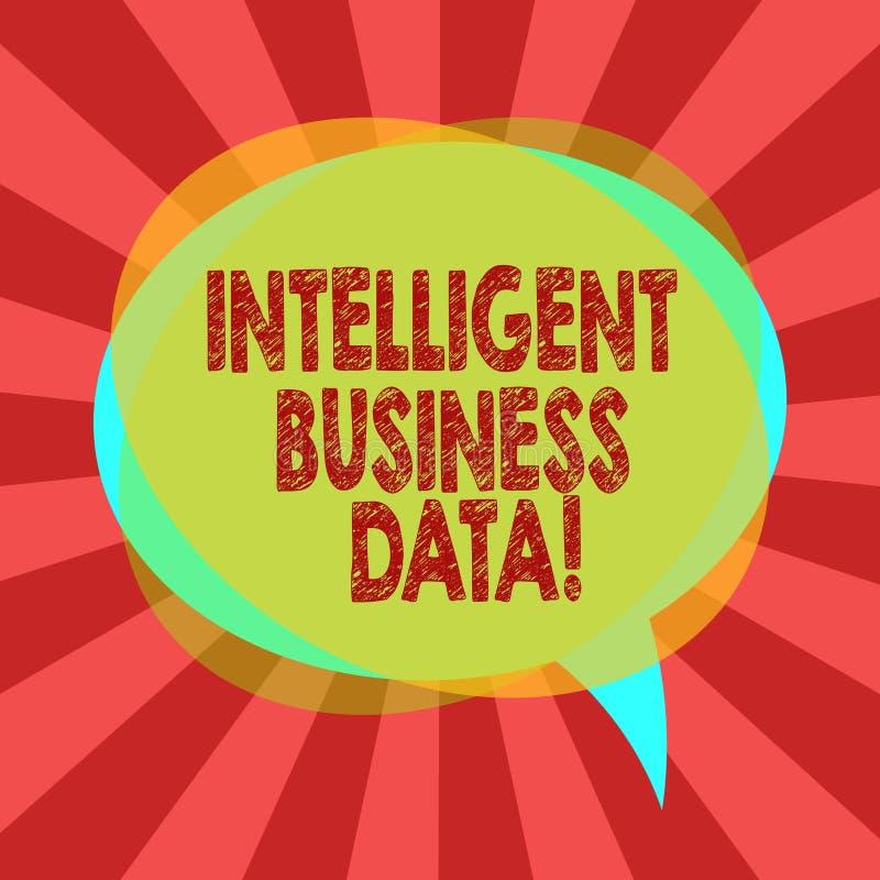 Textzeichen, das intelligente kommerzielle Daten zeigt Begriffsfotogebrauch von internen Daten, den Operationen freien Raum zu an lizenzfreie abbildung