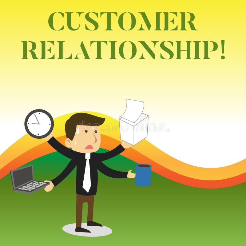 Textzeichen, das Kunden-Verh?ltnis zeigt Begriffsfoto Abkommen und Interaktion zwischen Firma und Verbrauchern betonten stock abbildung