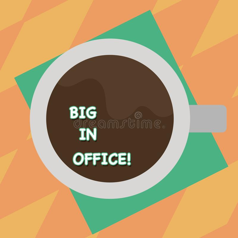 Textzeichen, das Leute im Büro zeigt Begriffsfotoraum oder Teil Gebäude, in dem sie das Sitzen an Schreibtische Draufsicht bearbe vektor abbildung