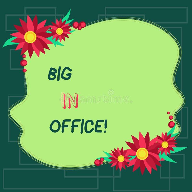 Textzeichen, das Leute im Büro zeigt Begriffsfotoraum oder Teil Gebäude, in dem sie das Sitzen an Schreibtische freiem Raum bearb vektor abbildung
