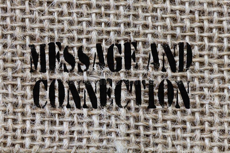 Textzeichen, das Mitteilung und Verbindung zeigt Begriffsfoto ein Wort oder ein Buchstabe sendete jemand und es wurde empfangen stock abbildung