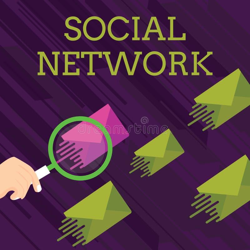 Textzeichen, das Soziales Netz zeigt Begriffsfoto Interaktionen, die Informationen Interdemonstratingal-Verhältnis teilen stock abbildung