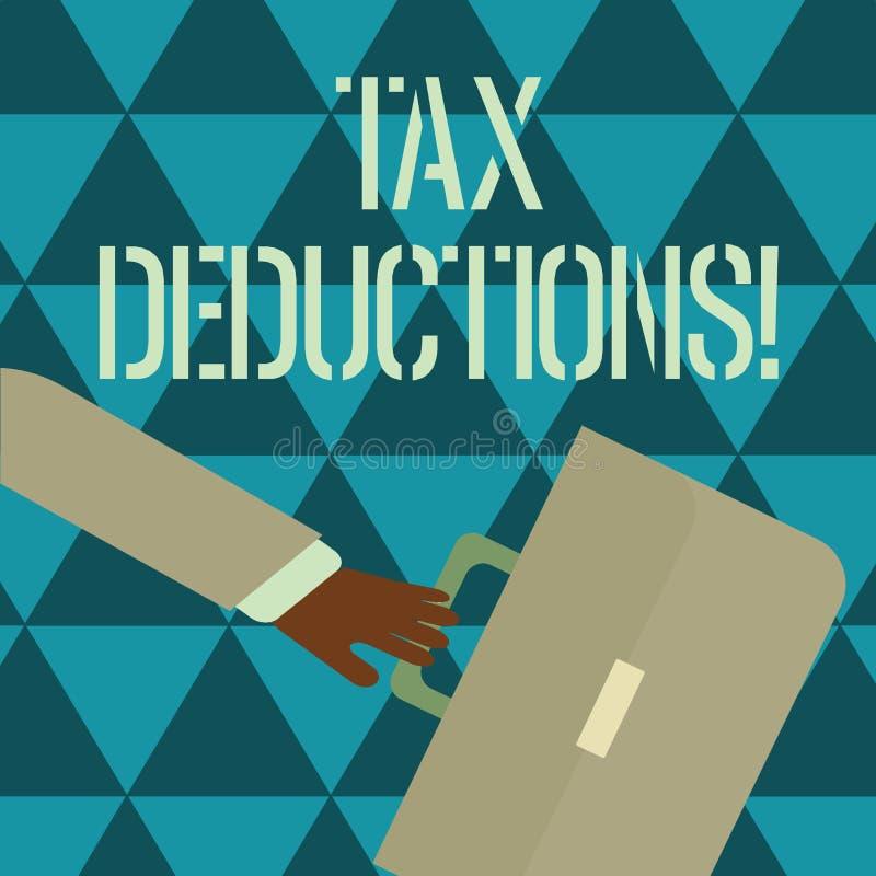 Textzeichen, das Steuerabzüge zeigt Begriffsfotoreduzierungseinkommen, das ist, von Ausgaben Hetzen besteuert zu werden vektor abbildung
