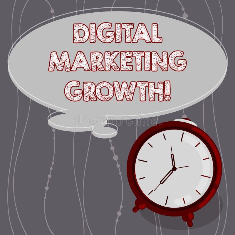 Textzeichen, das vermarktendes Wachstum Digital zeigt Begriffsfotogrößere on-line-Produktverkäufe oder Service-Einkommen leerer F vektor abbildung
