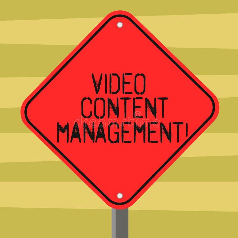Textzeichen, das Videocontent management zeigt Begriffsfotoeinschätzung eines einzelnen s ist Antwort zu einem Produkt stock abbildung