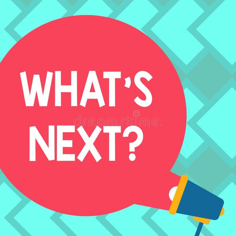 Textzeichen, das welches S Nextquestion zeigt Begriffsfoto nach Schritte Anleitung zum freien Raum, zu bewegen oder Arbeits fortz vektor abbildung