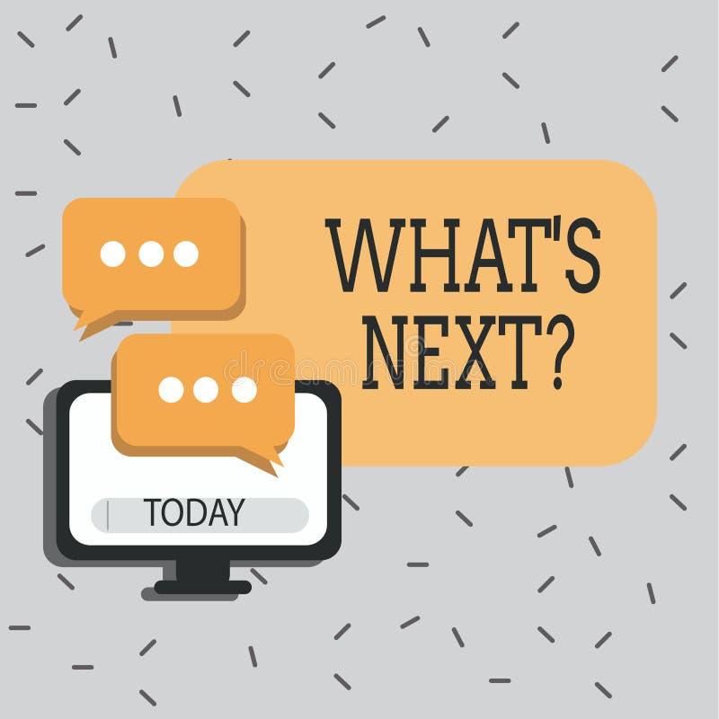 Textzeichen, das welches S Nextquestion zeigt Folgende Anleitung Schritte des Begriffsfotos zum sich zu bewegen oder zu arbeiten  lizenzfreie abbildung
