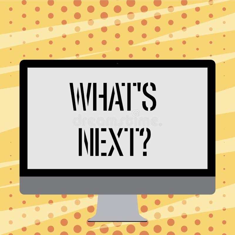Textzeichen, das welches S Nextquestion zeigt Folgende Anleitung Schritte des Begriffsfotos zum sich zu bewegen oder zu arbeiten  vektor abbildung