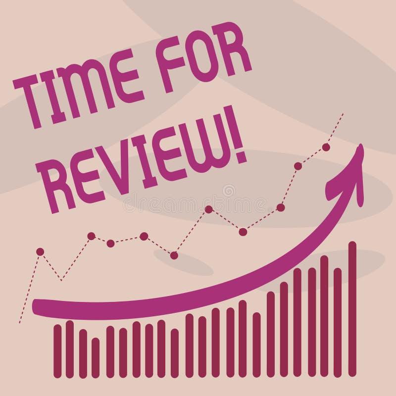 Textzeichen, das Zeit für Bericht zeigt Begriffsfoto Bewertungs-Feedback-Moment Perforanalysisce Rate Assess vektor abbildung