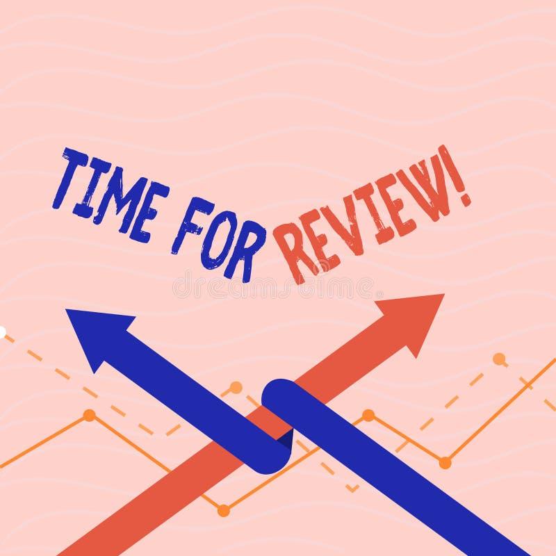 Textzeichen, das Zeit für Bericht zeigt Begriffsfoto Bewertungs-Feedback-Moment Perforanalysisce Rate Assess stock abbildung