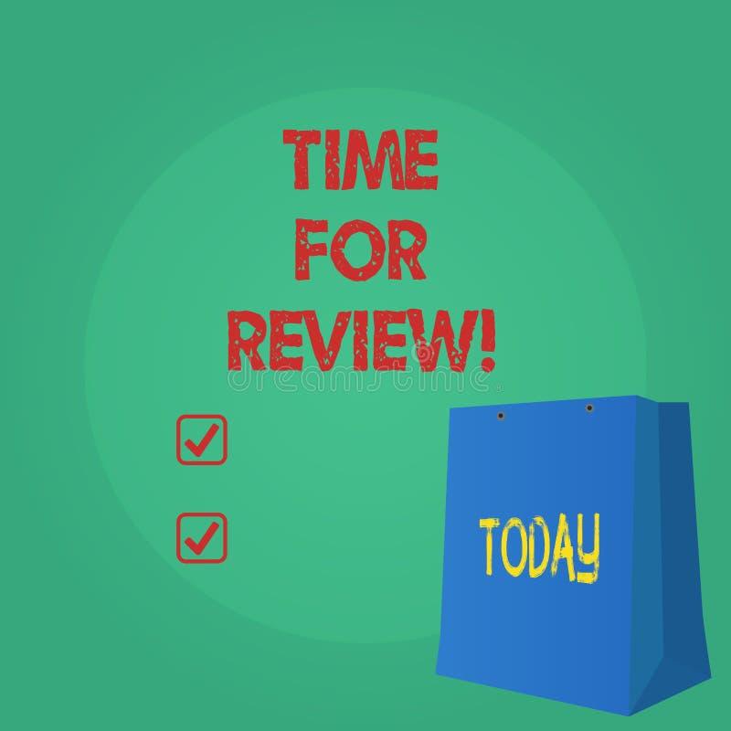 Textzeichen, das Zeit für Bericht zeigt Das Begriffsfoto, das Feedback-Bewertungs-Ratenjobtest geben oder das Produkt qualifizier vektor abbildung