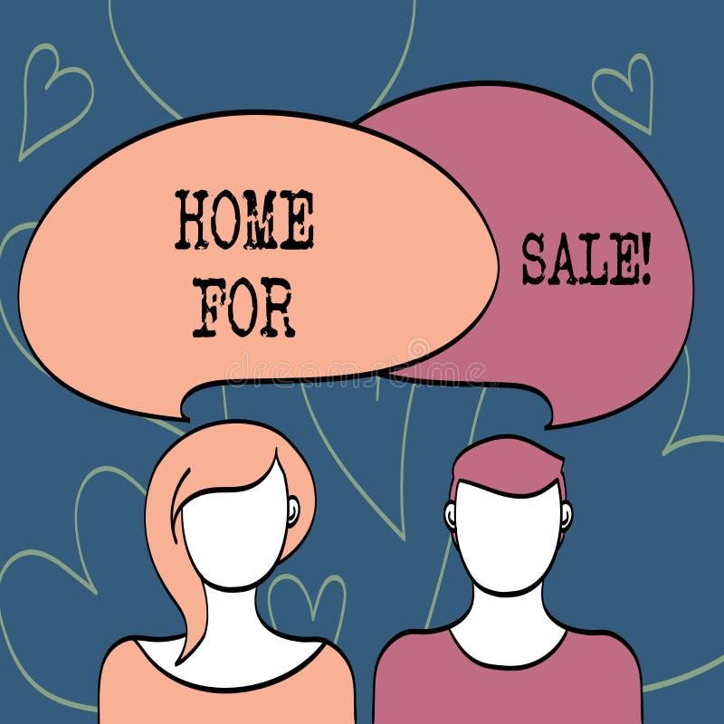 Textzeichen-Vertretung Haus für Verkauf Begriffsfoto Haus verfügbar gekauftes Immobilien-Angebot sein lizenzfreie abbildung