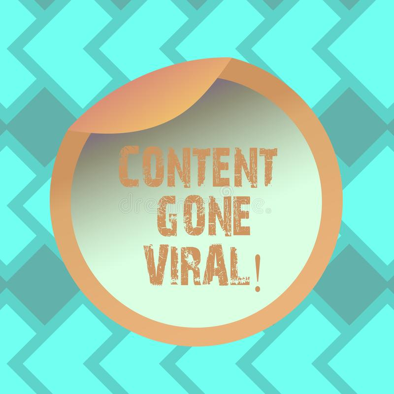 Textzeichen-Vertretung Inhalt Viren gegangen Begriffsfotobild-Videoverbindung, die schnell durch Bevölkerung Flasche verbreitet vektor abbildung
