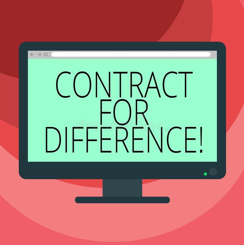 Textzeichen-Vertretung Vertrag für Unterschied Begriffsfotovertrag zwischen einem Investor und einem Computer Emissionsbank freie vektor abbildung