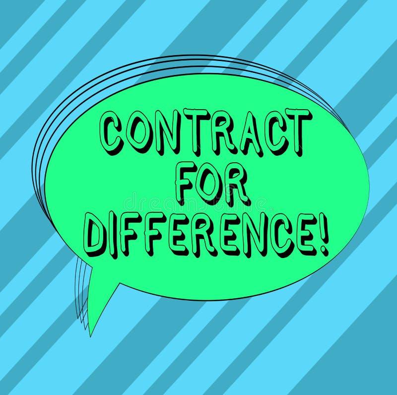 Textzeichen-Vertretung Vertrag für Unterschied Begriffsfotovertrag zwischen einem Investor und einem Emissionsbank freien Raum stock abbildung