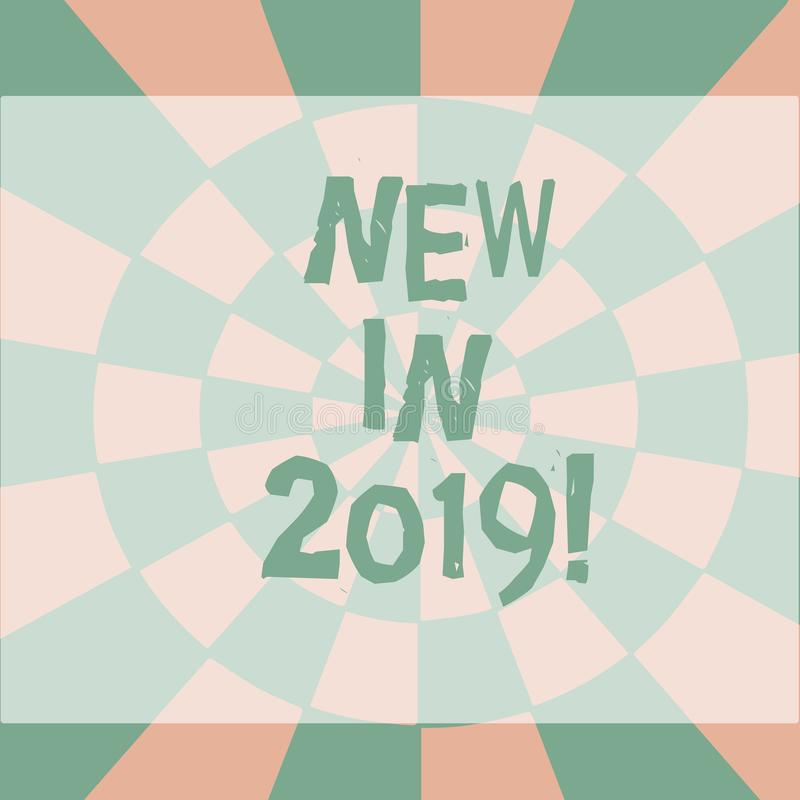 Textzeichendarstellen neu im Jahre 2019 Allgemeine Richtung des Begriffsfotos, in der etwas nahtlos sich entwickelt oder ändert lizenzfreie abbildung