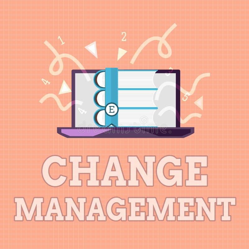 Textzeichenvertretung Änderungs-Management Begriffsfoto Ersatz der Führung in eine Organisation neuer Politik lizenzfreie abbildung