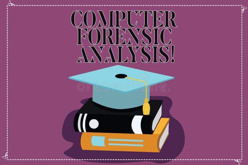 Textzeichenvertretung Computer-gerichtliche Analyse Begriffsfotobeweis gefunden in den Computern und im Speichermedien Farbstaffe stock abbildung