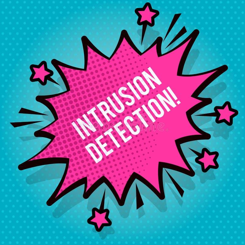 Textzeichenvertretung Eindringen-Entdeckung Begriffsfoto überwacht ein Netz oder Systeme für böswillige Tätigkeit stacheligen fre lizenzfreie abbildung