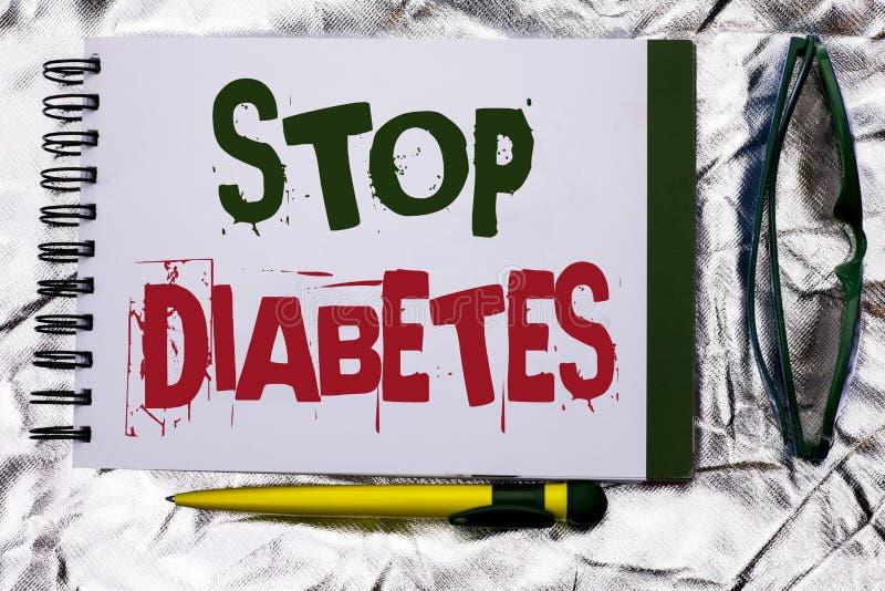 Textzeichenvertretung Enddiabetes Begriffsfoto kümmern sich um Ihren Sugar Levels Healthy Diet Nutritions-Gewohnheiten, die auf N stockfotografie