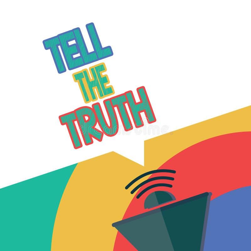 Textzeichenvertretung sagen die Wahrheit Begriffsfoto bekennen irgendeine persönliche Tatsache, die jemand hält versteckt wünscht lizenzfreie abbildung
