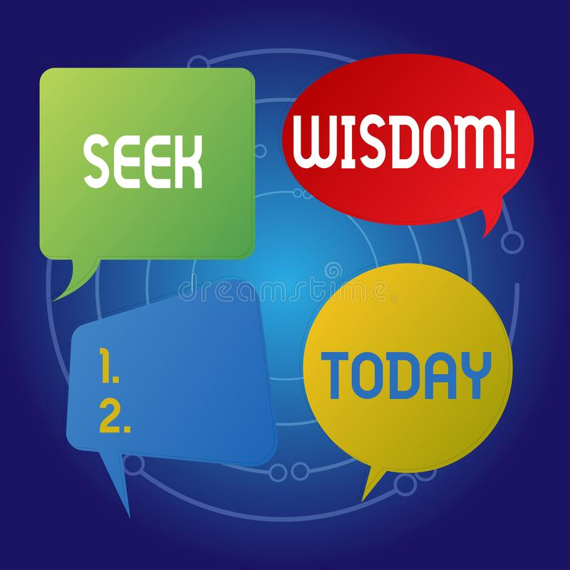 Textzeichenvertretung Suchvorgang-Klugheit Begriffsfotodenkfähigkeitstat unter Verwendung Wissenserfahrung Verständnisfreien raum lizenzfreie abbildung