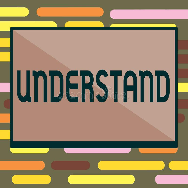 Textzeichenvertretung verstehen Begriffsfoto empfinden die beabsichtigte Bedeutung von etwas interpretieren Ansicht lizenzfreie abbildung