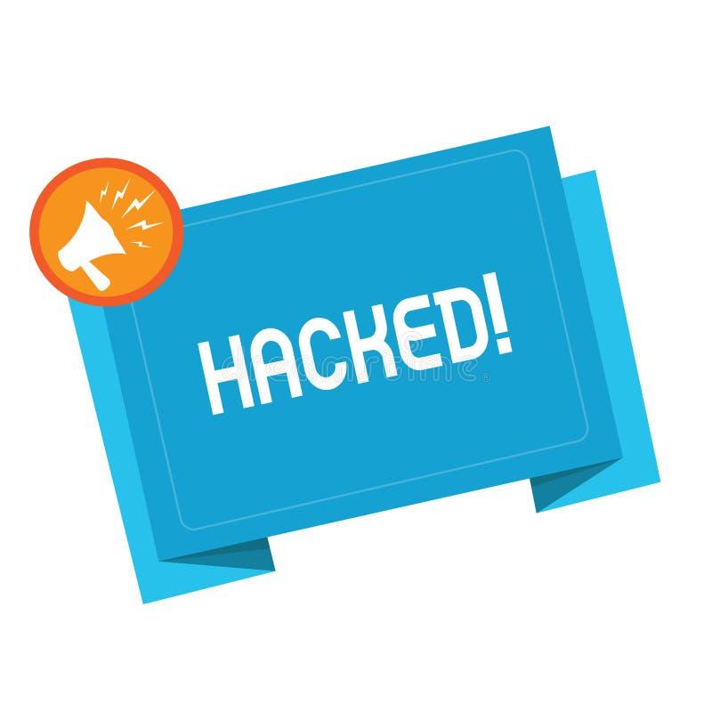 Textzeichenvertretung zerhackt Begriffsfoto Gewinnunberechtigter zugriff zu den Daten System oder Computer im Cyberverbrechen lizenzfreie abbildung