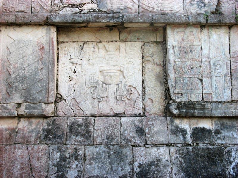Texure de piedra cuadrado maya fotografía de archivo
