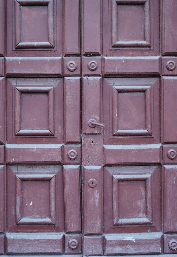 Texure drzwi w ulicie zdjęcie royalty free
