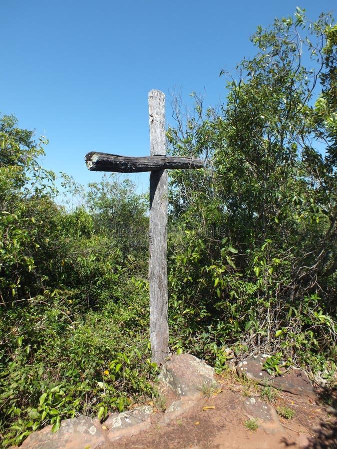 Teyu Cuare prowincjonału parka krzyż obrazy royalty free