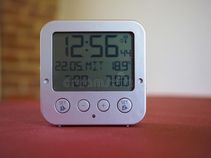 TFA Dostmann digital radio controlled clock royalty free stock photo