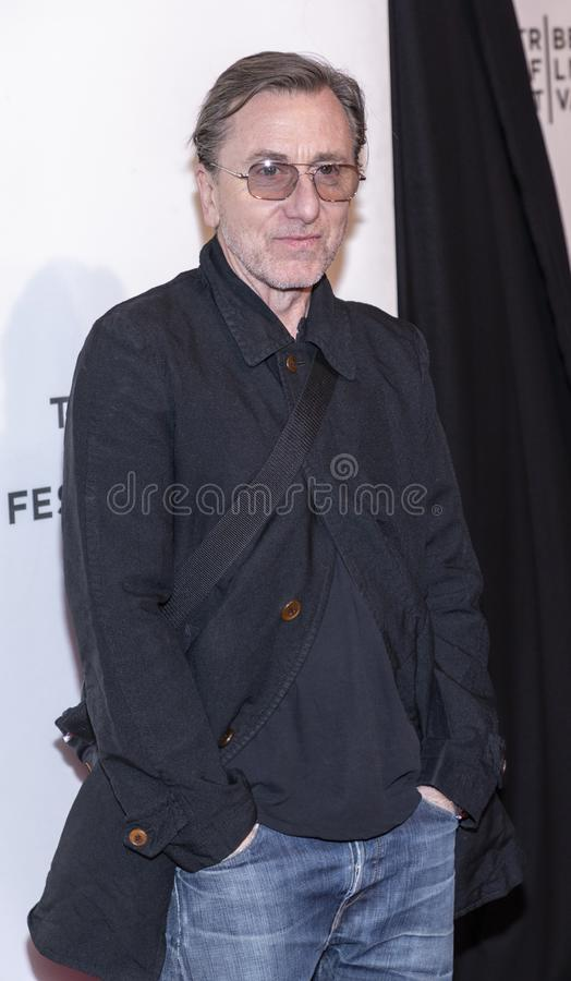 TFF 2019 - Luce. New York, NY, USA - April 28, 2019: Tim Roth attends `Luce` premiere during 2019 Tribeca Film Festival at The Stella Artois Theatre, Manhattan royalty free stock image