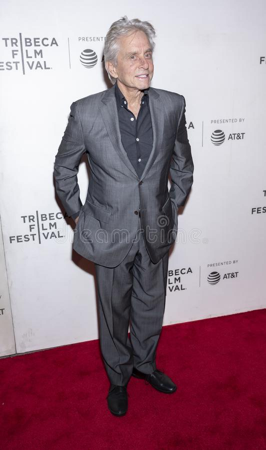 TFF 2019 - It Takes a Lunatic. New York, NY, USA - May 3, 2019:  Michael Douglas attends the `It Takes A Lunatic` premiere during 2019 Tribeca Film Festival at stock images