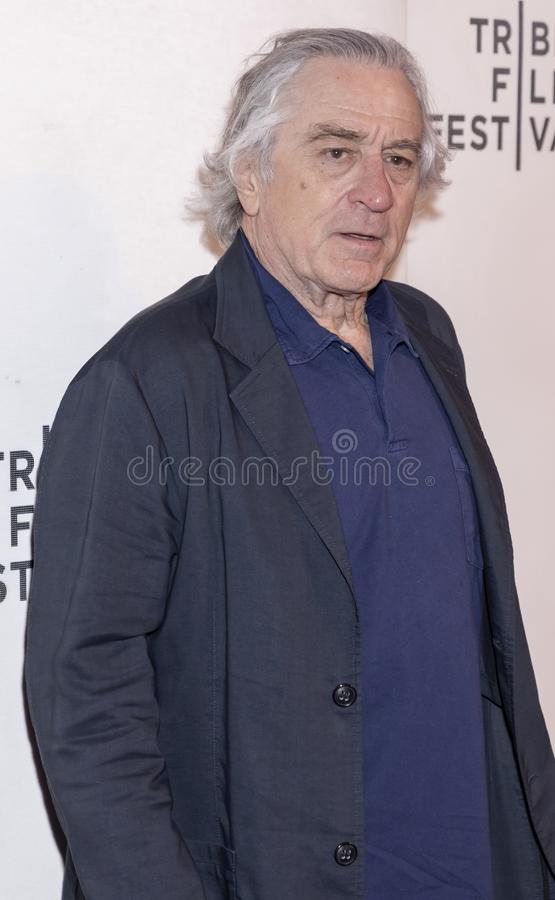 TFF 2019 - It Takes a Lunatic. New York, NY, USA - May 3, 2019:  Robert De Niro attends the `It Takes A Lunatic` premiere during 2019 Tribeca Film Festival at royalty free stock photo