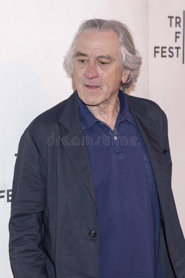 TFF 2019 - It Takes a Lunatic. New York, NY, USA - May 3, 2019:  Robert De Niro attends the `It Takes A Lunatic` premiere during 2019 Tribeca Film Festival at royalty free stock photos
