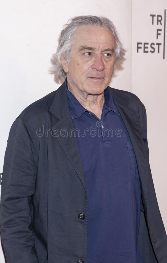 TFF 2019 - It Takes a Lunatic. New York, NY, USA - May 3, 2019:  Robert De Niro attends the `It Takes A Lunatic` premiere during 2019 Tribeca Film Festival at royalty free stock images
