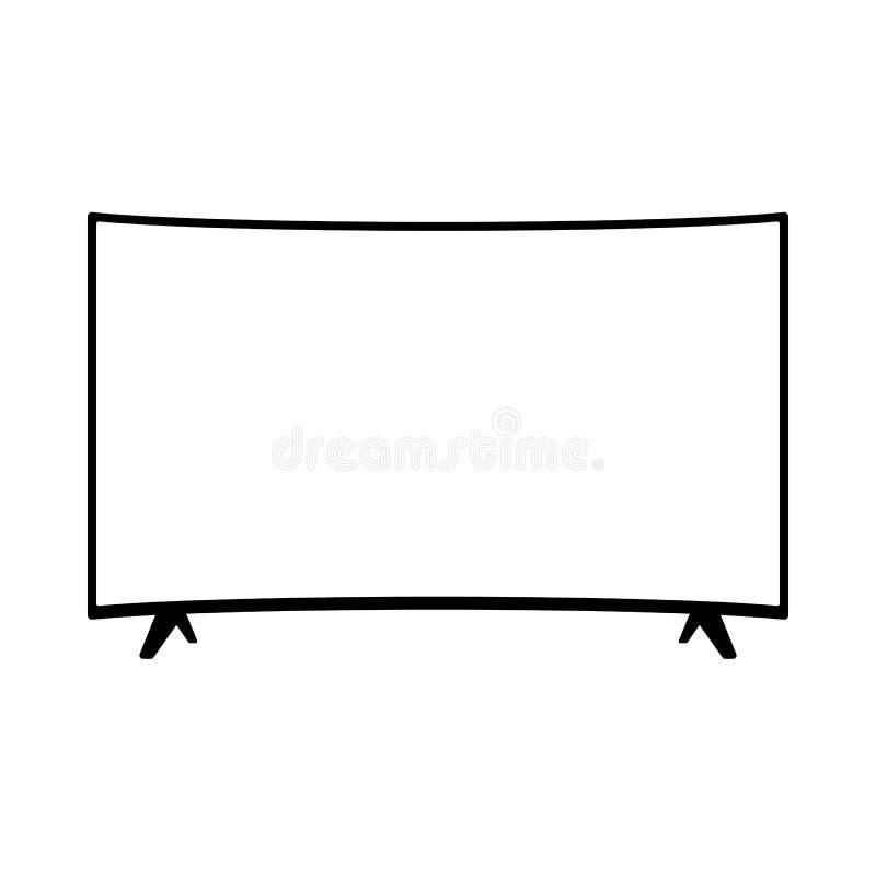 TFT LED wide screen smart tv icon.  vector illustration
