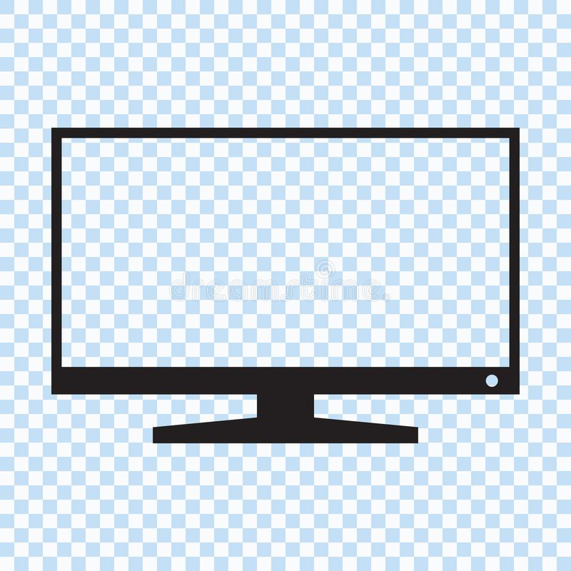 TFT LED wide screen smart tv icon. Vector illustration vector illustration