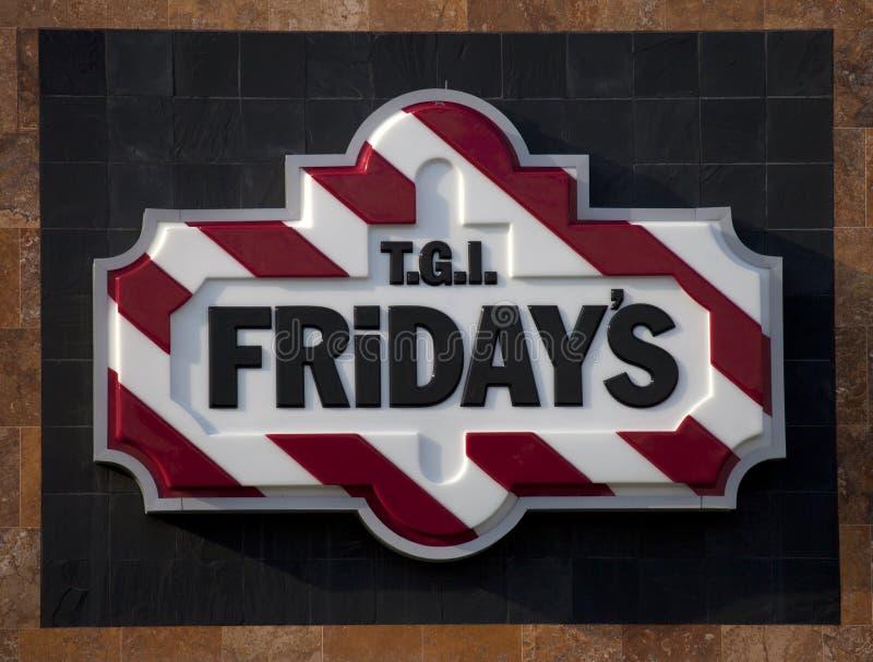 TGI Friday's Sign (Logo) royalty free stock photography