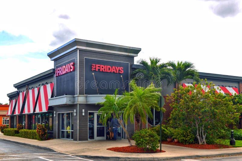 TGI Fridays in Hollywood, Florida royalty free stock image