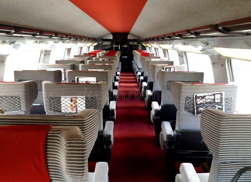 TGV pierwsza klasa obraz royalty free