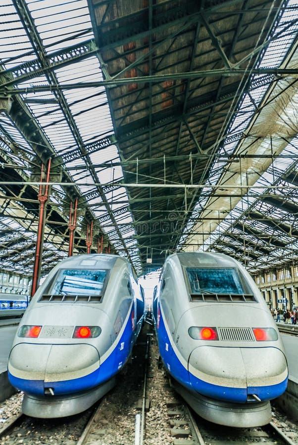 TGV prędkości francuza wysoki pociąg zdjęcie royalty free