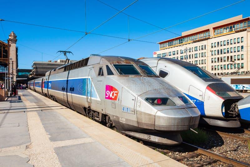 TGV pr?dko?ci intercity wysoki poci?g zdjęcie stock