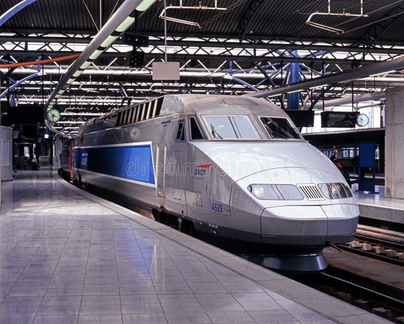 TGV Train, Brussels. royalty free stock photos