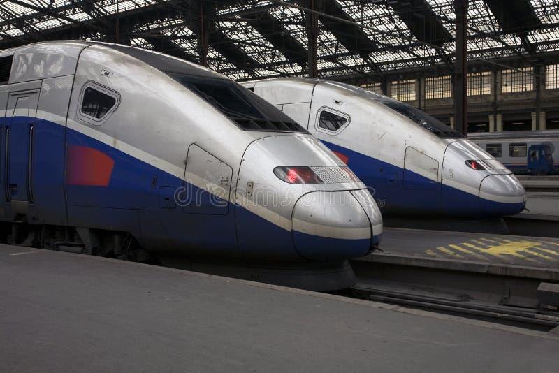 Download TGV Trains At Paris Gare De Lyon Stock Image - Image: 15575897