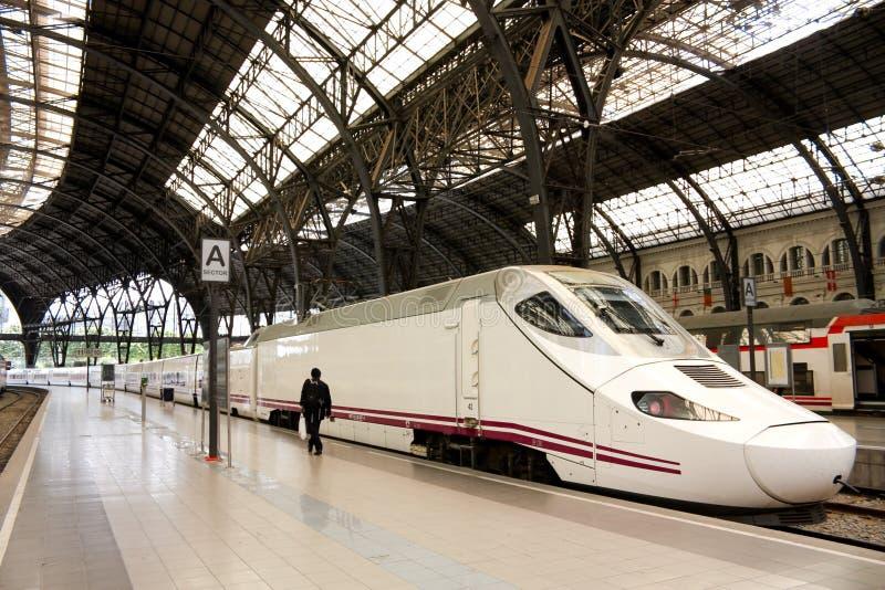 TGV. trem de alta velocidade, Spain foto de stock